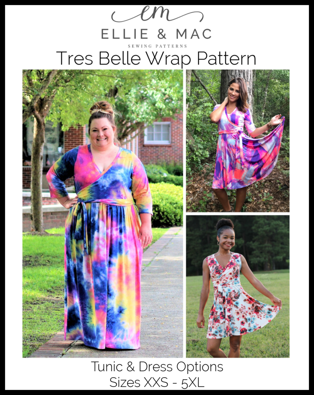 Ellie & Mac Tres Belle Wrap Top Sewing Pattern