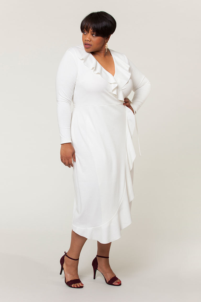 Seamwork's Erica Dress Pattern with ruffle expansion
