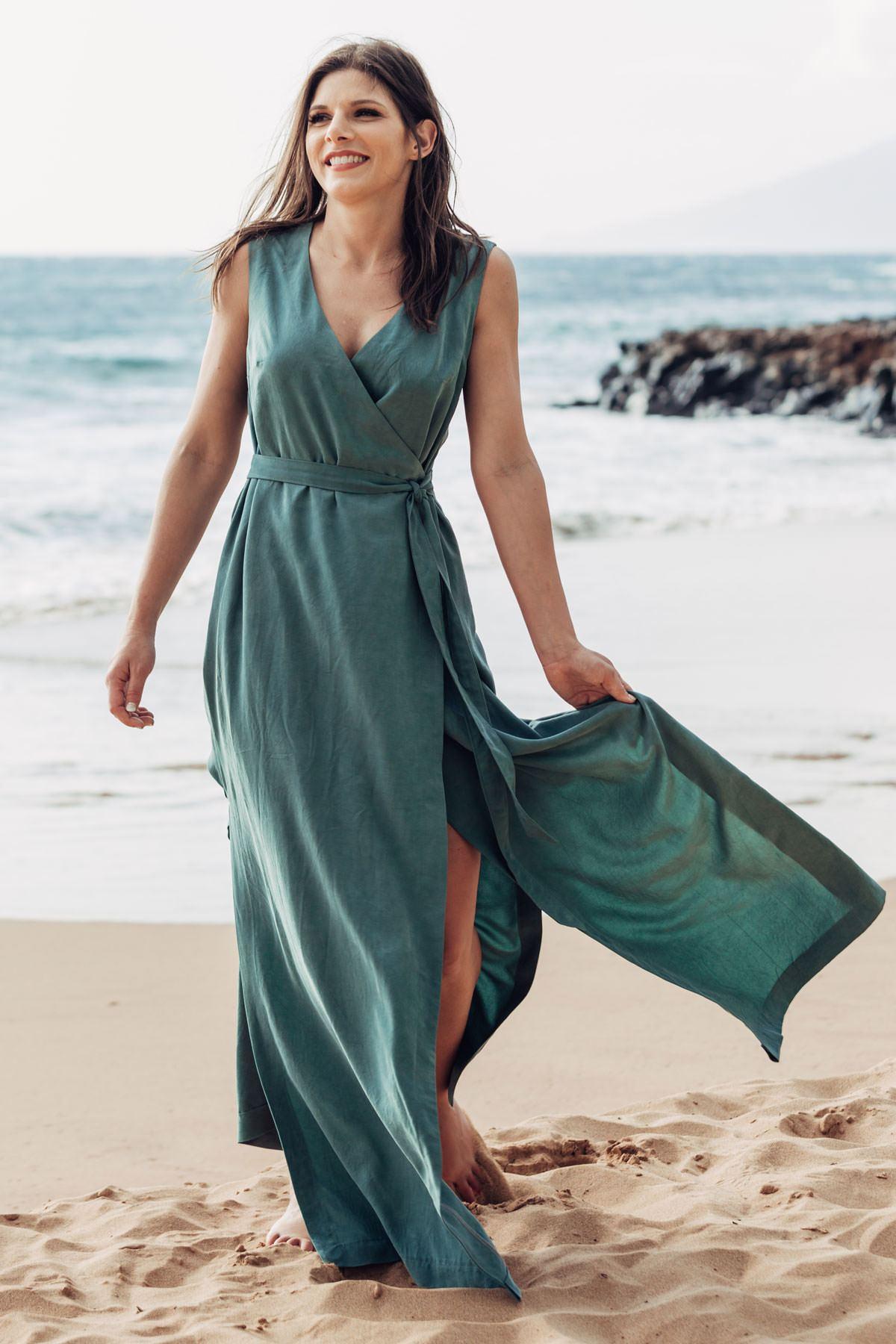 Allie Olsen Highlands Wrap Dress Sewing Pattern