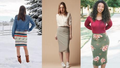 Straight Knit Skirt Pattern Roundup