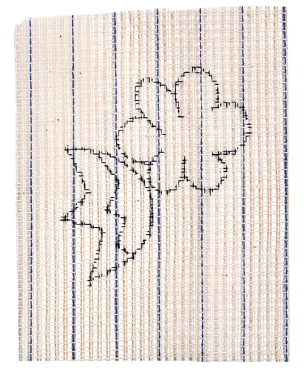 embroidery pattern on waste canvas