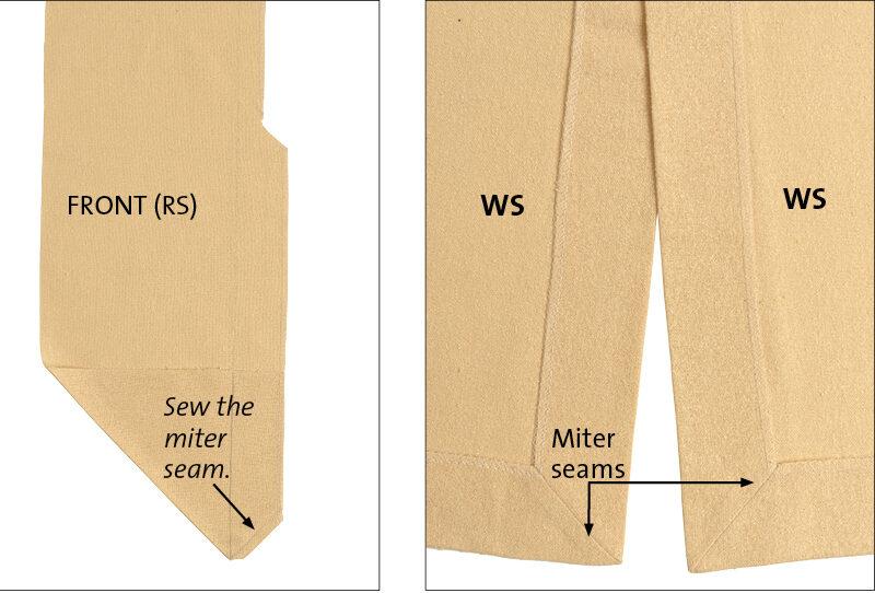 Miter the corners