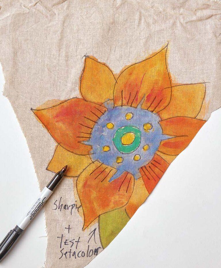 orange drawn out flower