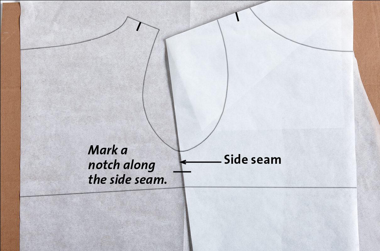 Mark the side seam