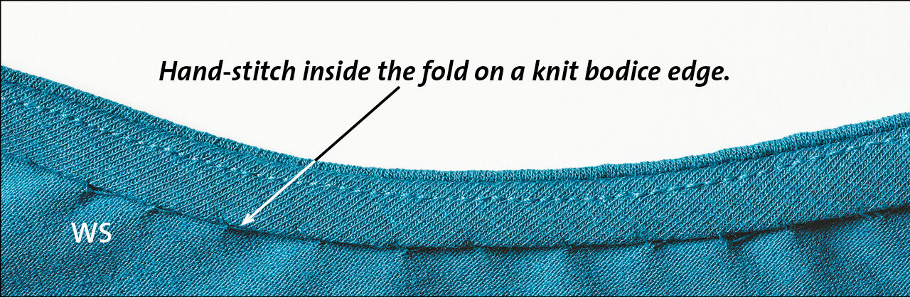 knit the bodice and finish the edges off