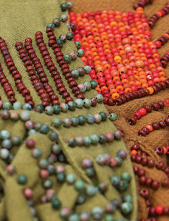 An exampleof beading on a costume.