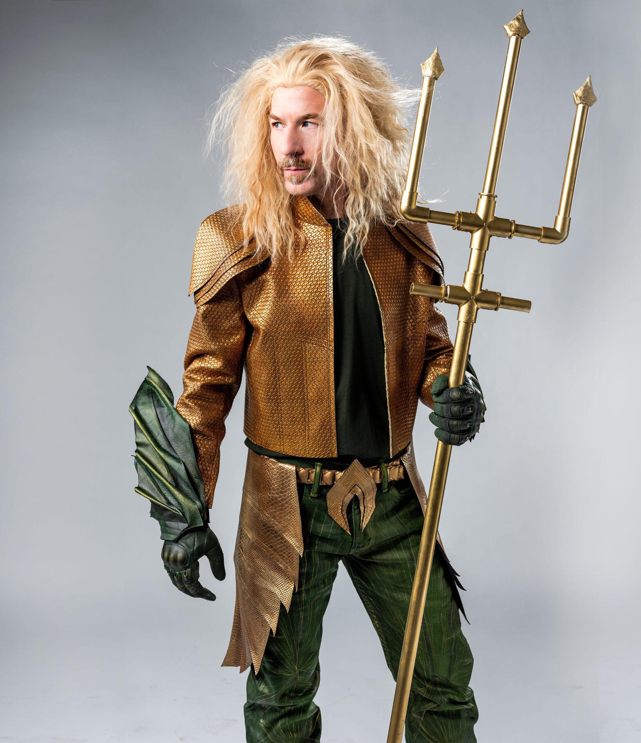 Rob Harriell in Aquaman costume