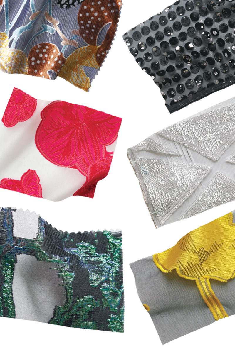 various burn-out textiles