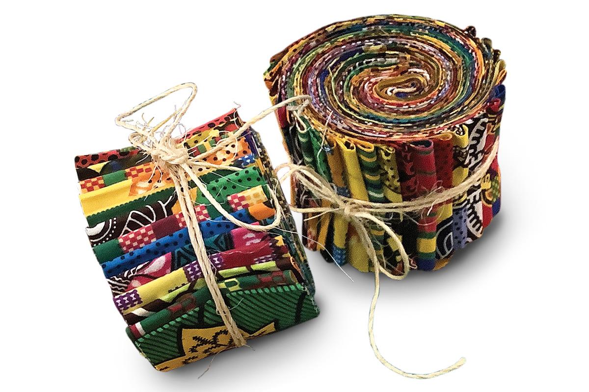 bundles of fabric