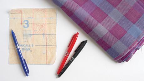 Mark Patterns to Match Plaid Fabrics