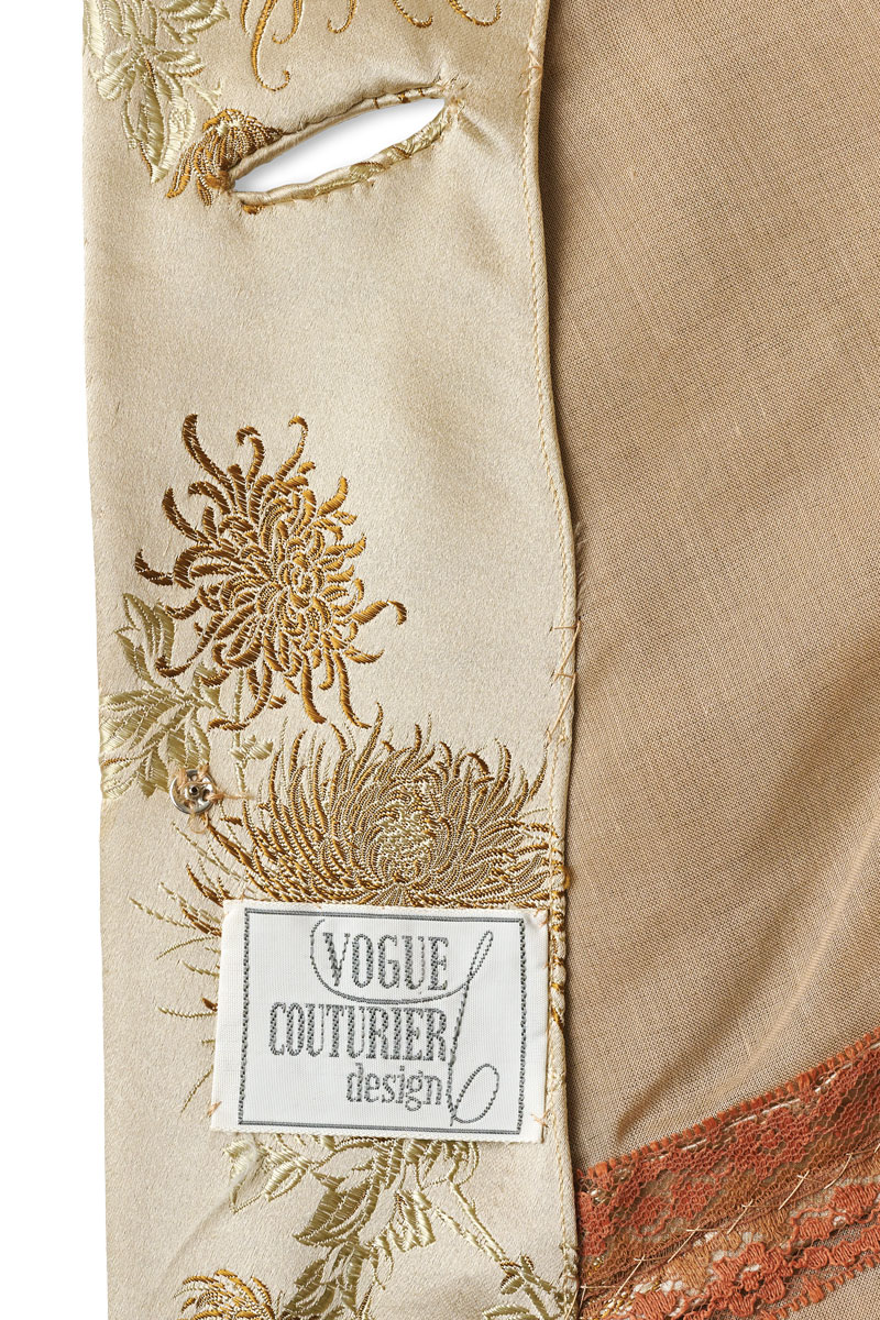 Vogue designer patterns used to come with labels for home dressmakers to stitch into their finished garments.