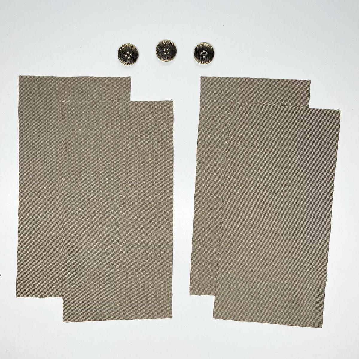 button placket pieces
