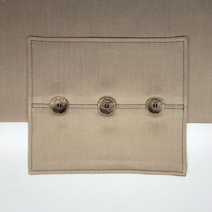 Button placket extension.