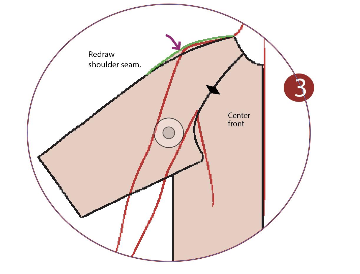 redraw shoulder seam diagram