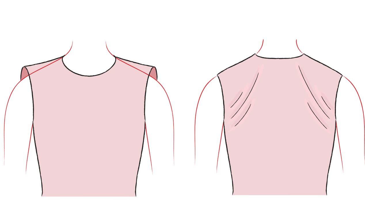 sloping shoulders