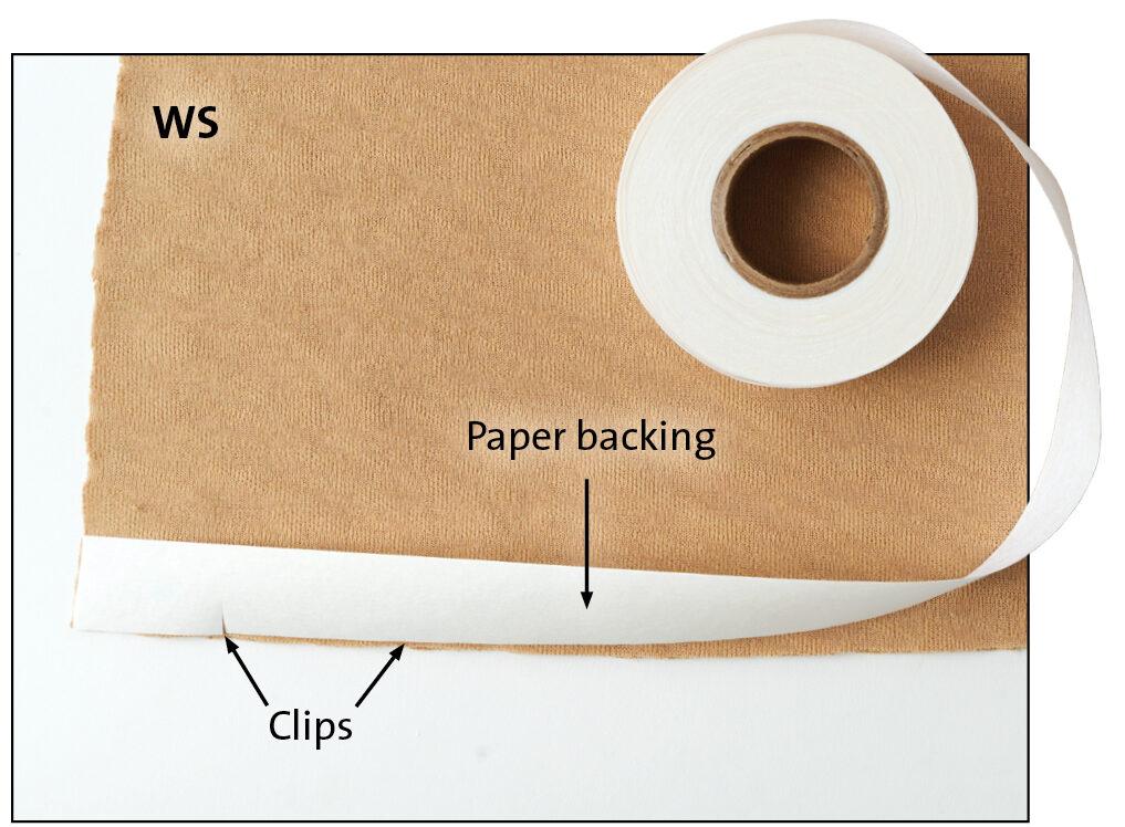 Prepare the hem allowance. Adjust it to 1 inch wide.