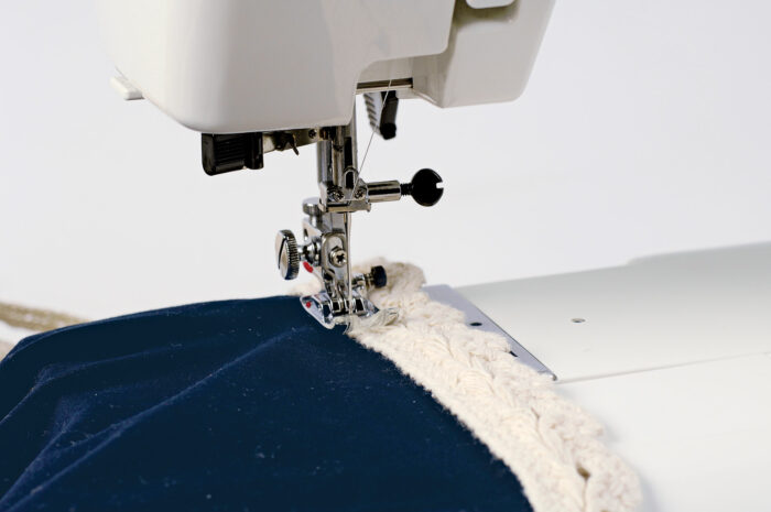sew the trim to the top