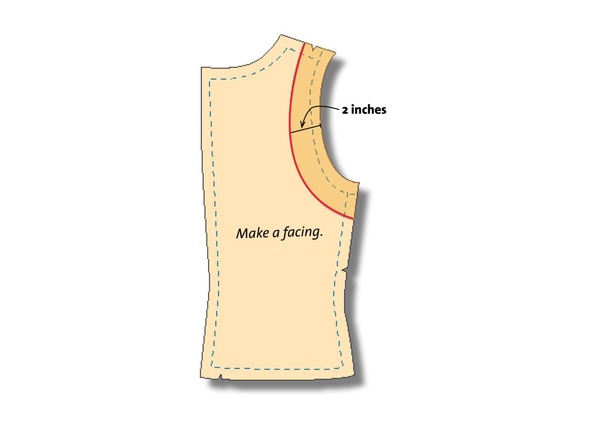 facing for blouses pattern adjustment