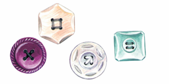 thread patterns on buttons
