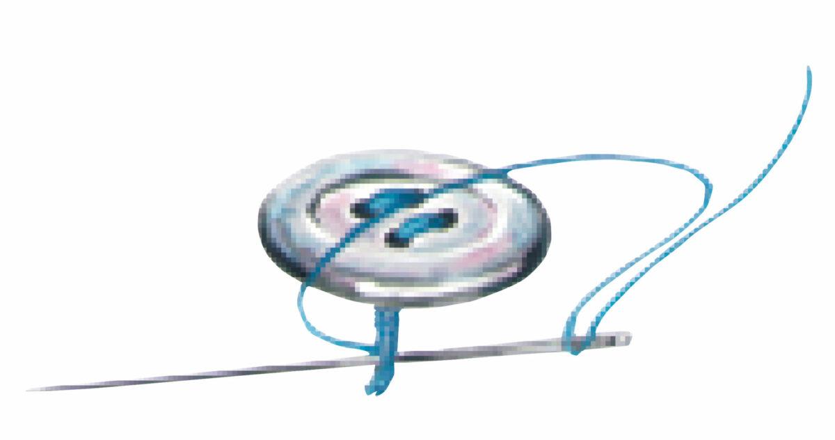 sew-through button