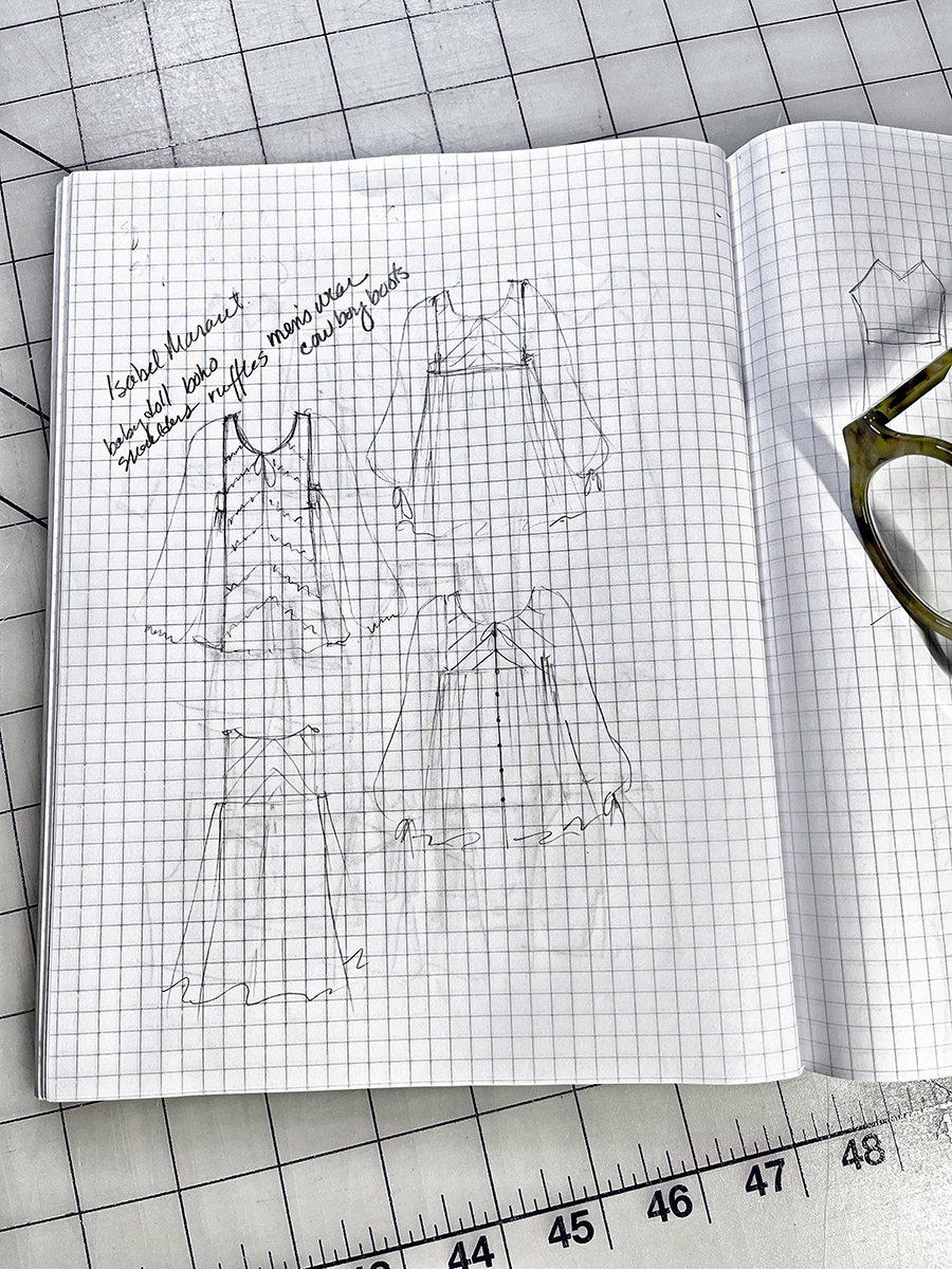 Becky Fulgoni's inspiration: sketching tunic options