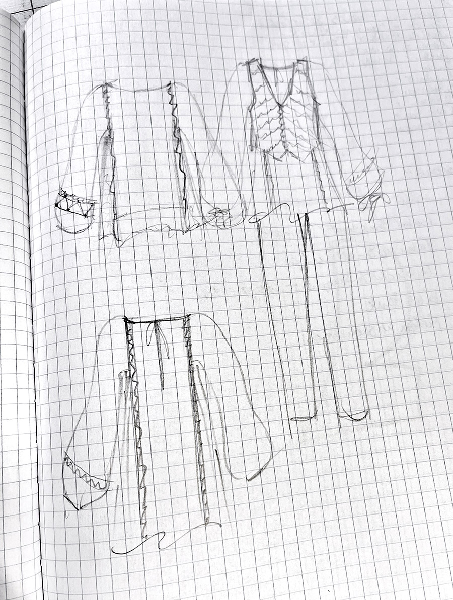 Becky Fulgoni's inspiration: tunic and vest options, close-up