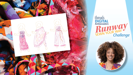 Marcy Harriell's inspiration for Runway Sewn Your Way challenge