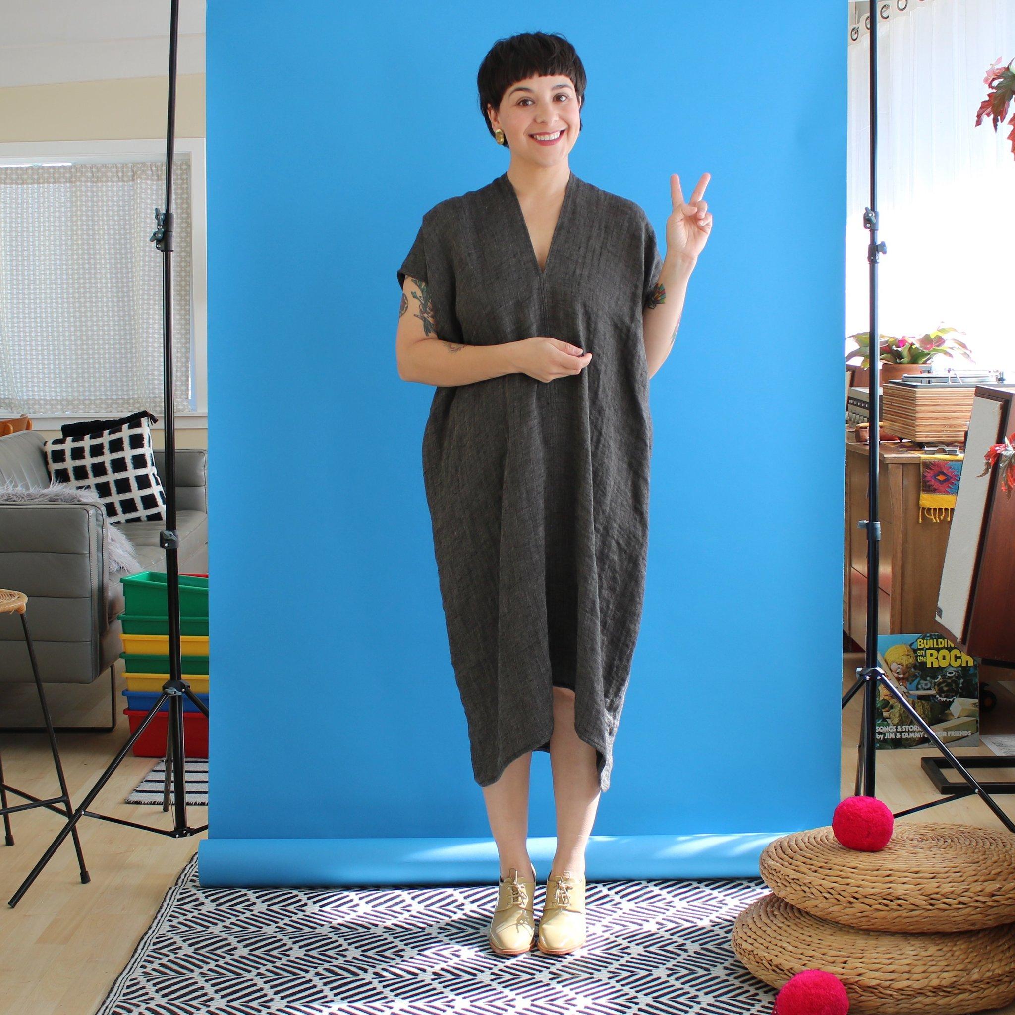 sustainable zero waste dress