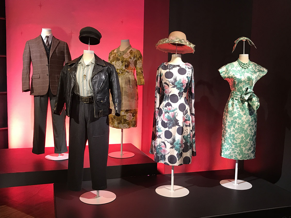 Amazing Mrs. Maisel costumes in Showstoppers exhibit