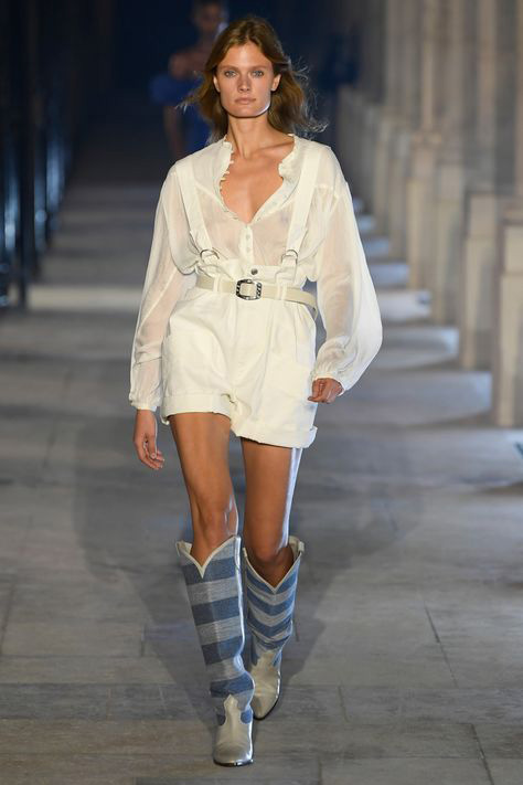 Isabel Marant design inspired Becky Fulgoni to create a flowing tunic and tailored vest