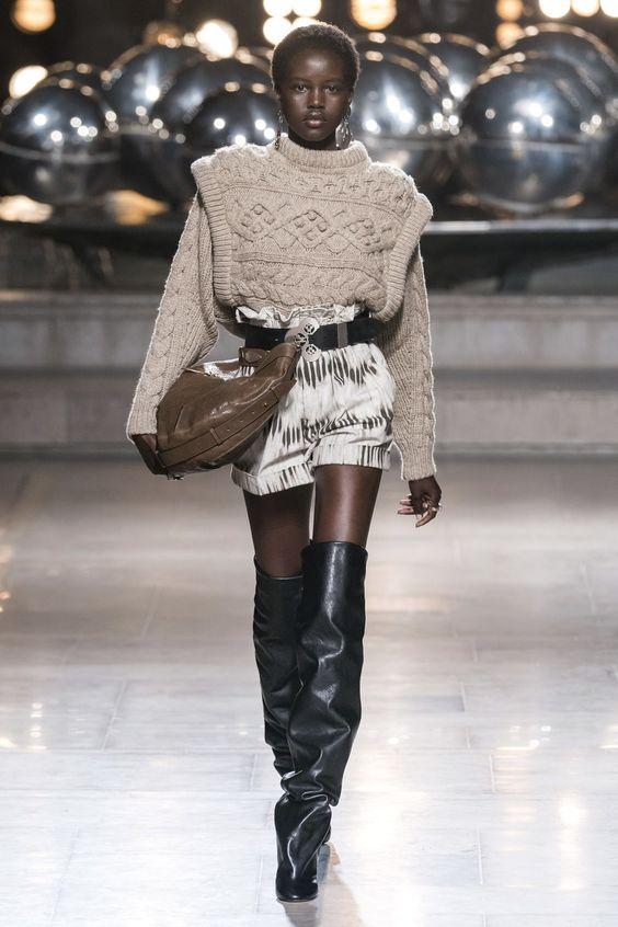 Marant's designs often focus on the shoulder line