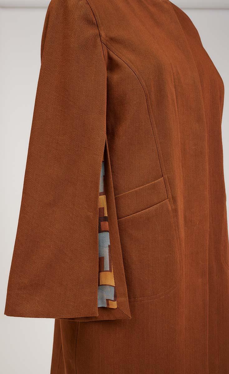 Cape Sleeve close-up on coat