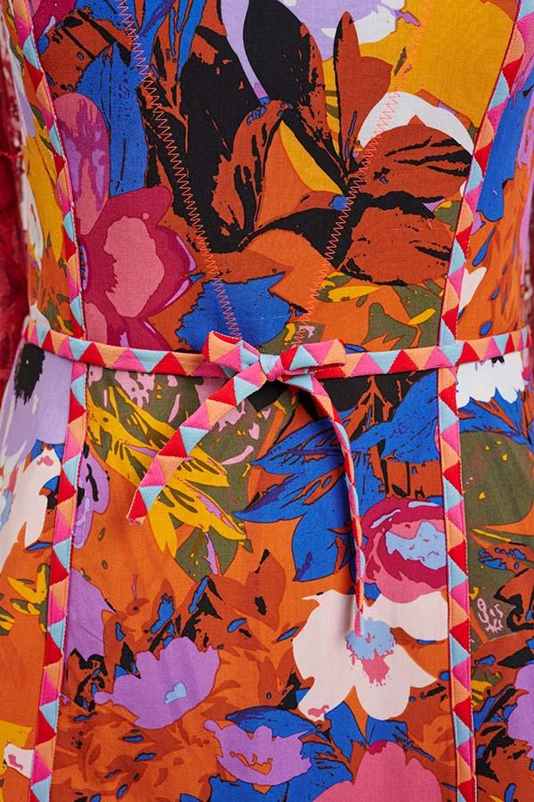 Front bodice on technicolor minidress