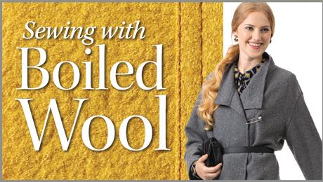 sewing boiled wool