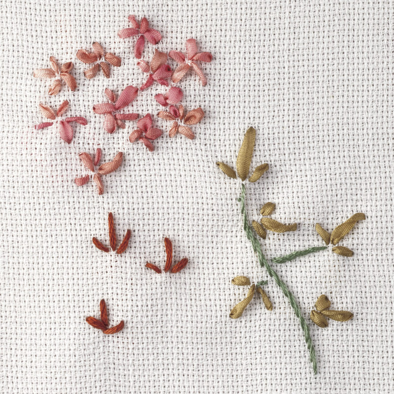 Beginners Silk Ribbon Embroidery Five Easy Stitches Threads