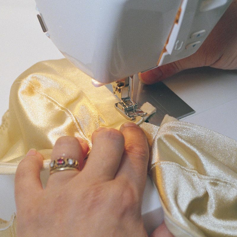 Carefully sew