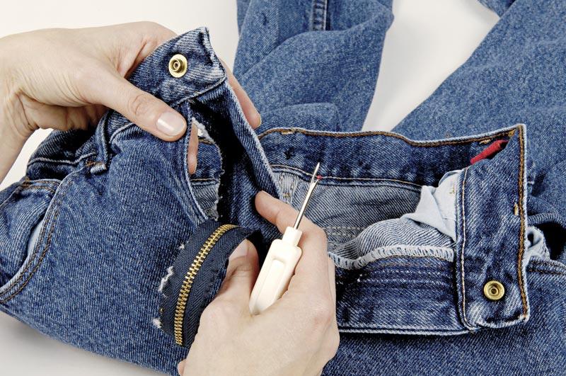 Remove the zipper