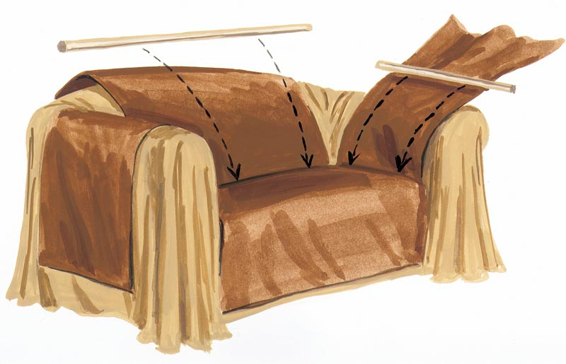 make a sofa wrap threads rh threadsmagazine com sofa covers makers in colchester sofa covers made to order