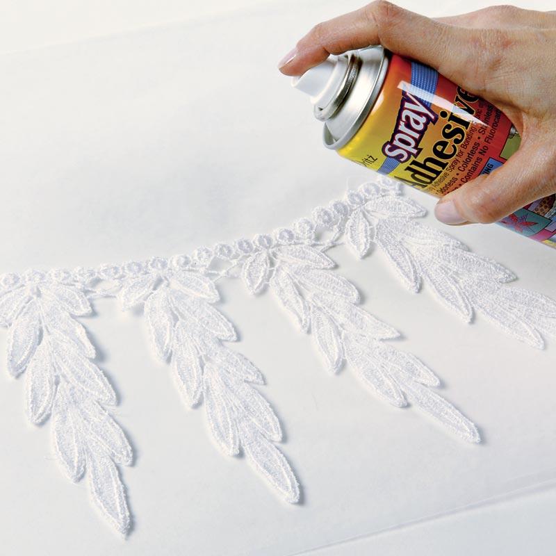 Baste with spray adhesive