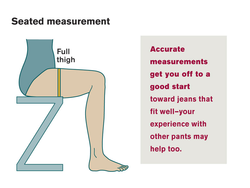 Seated measurements