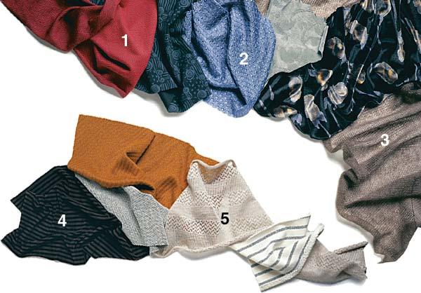 Knit fabric sampler