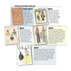 Vintage pattern timeline