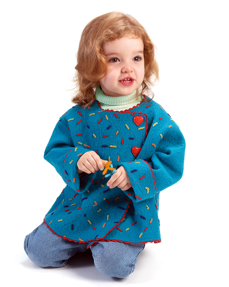 Child's jacket with confetti trim