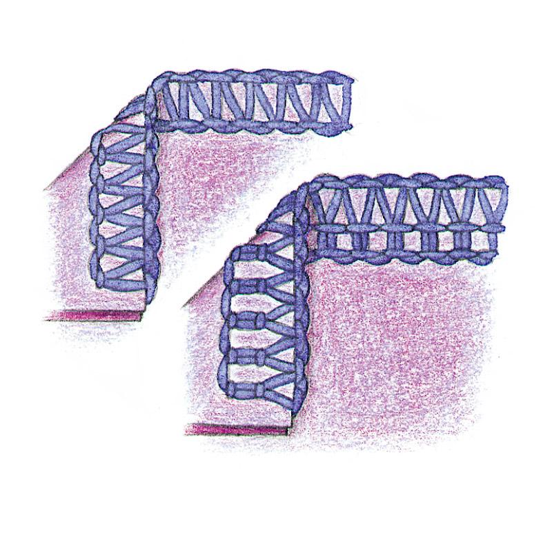 Three and four-thread overlocks