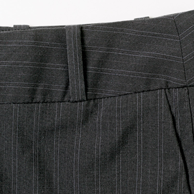Set a waistband on edge.