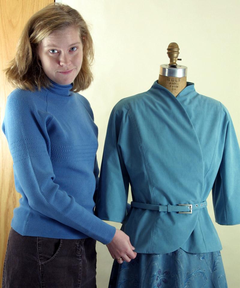 Jacket in ultrasuede