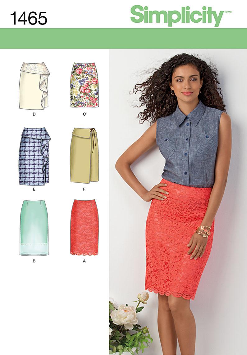 Pattern straight skirt: building 44