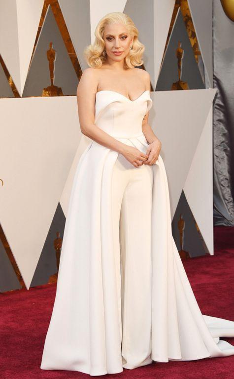 Lady Gaga 2016 Oscars red carpet
