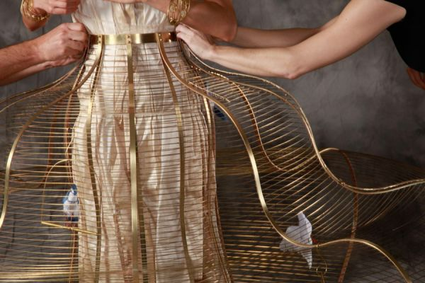 Birdcage Dress Detail