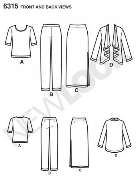 new look pattern 6315